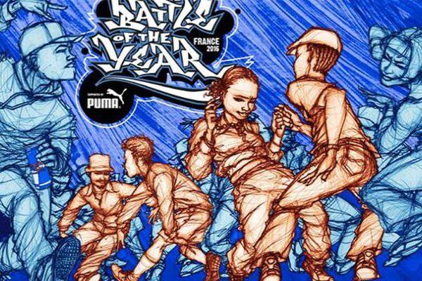 L'affiche de Battle of the year 2016  réalisée par Mode2, figure dans le monde du Graffiti.