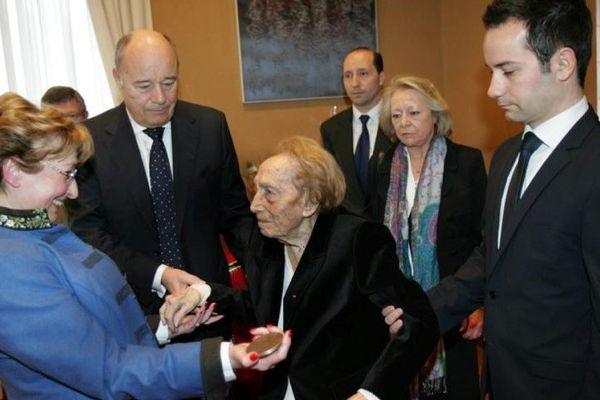 Evelyne Jean-Baylet et sa famille en 2013
