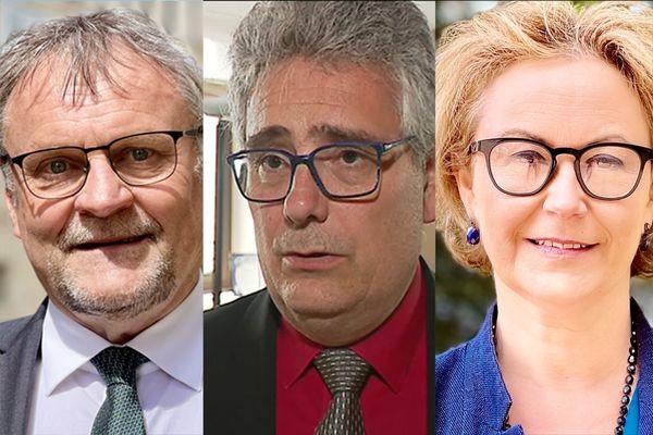 Les présidents des conseils départementaux : Jean-Claude leblois (Haute-Vienne), Pascal Coste (Corrèze), Valérie Simonet (Creuse)