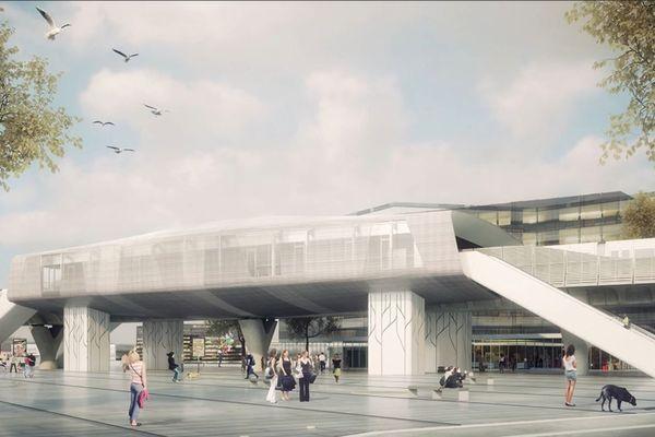 La station Cesson-Viasilva, terminus est, sera aérienne.