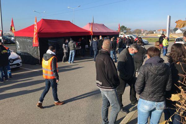 Grève à la raffinerie de Donges, le 30 novembre 2020