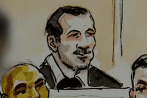 Ilyès Tafer dans le box des accusés, lors du procès de la rixe d'Echirolles.