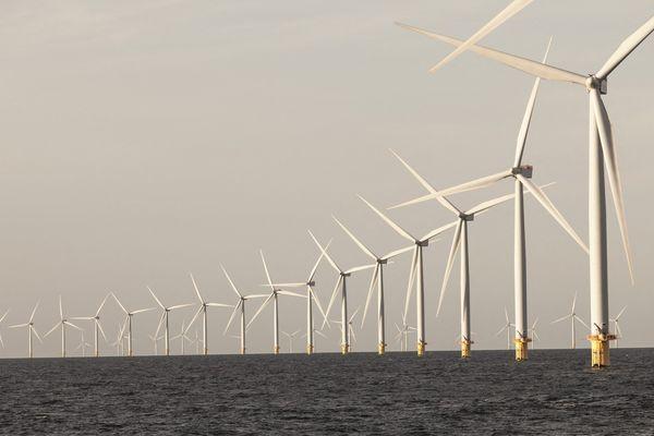 Un parc éolien offshore au Danemark.