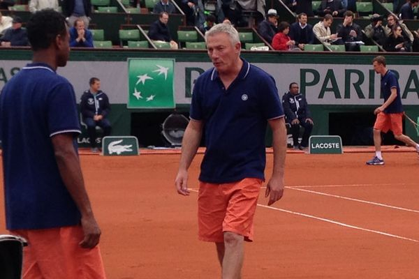 Bruno Slastan à Roland Garros, mai 2016.