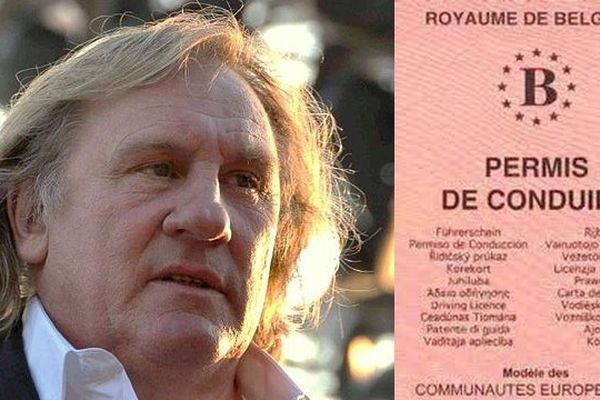 Gérard Depardieu a obtenu le permis de conduire au Royaume de Belgique.