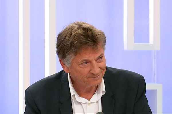 Jean-Pierre Dermit sur notre plateau le dimanche 15 mars 2020 après son élection.