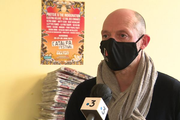 Sylvain Briand, directeur du Festival Catalpa, en février 2021