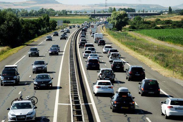 L'A71 a été coupée en direction de Paris à hauteur de Saint-Amand-Montrond. Photo d'illustration