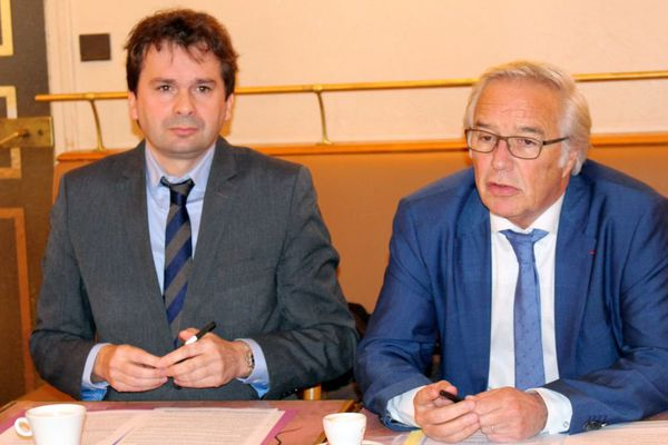 Ludovic Rochette (à gauche) et Francois Rebsamen