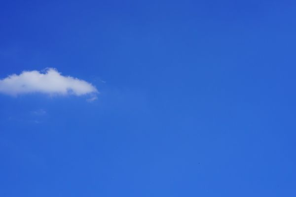 Un beau ciel bleu... ;) (illustration)