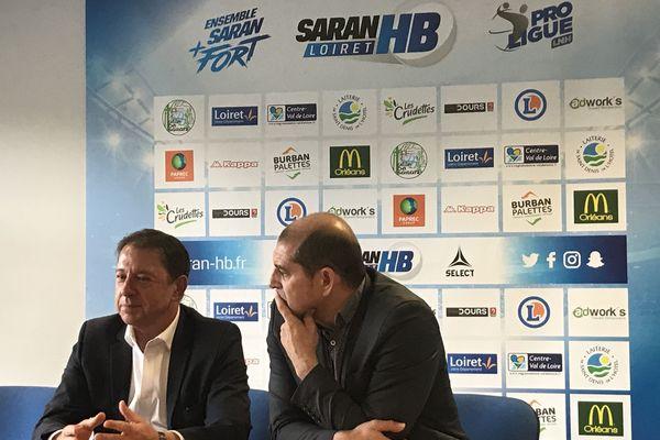 """Bruno Bordier et Duarte Da Costa, actionnaires fondateurs de la SAS """"Pro Handball 45""""."""