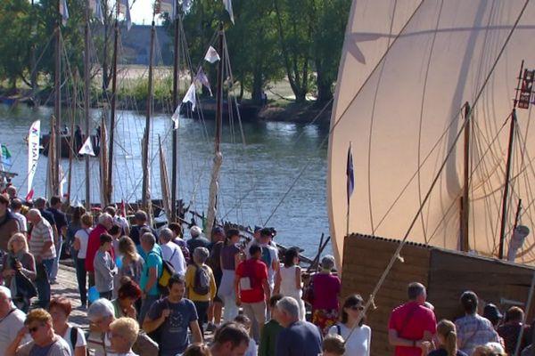 Les festivaliers sur les quais de Loire lors de la 8ème édition en 2017.