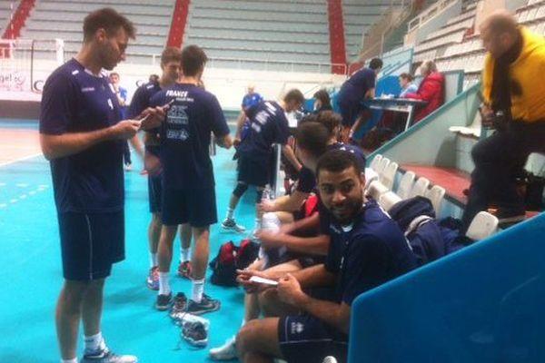 Entraînement de l'équipe de France Volley ball à Tours (Indre-et-Loire)