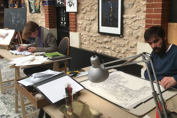 Merlin Riand et Sélestino Roxo exposent à O'Zenith tout le week-end.