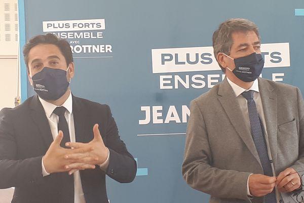 Arnaud Robinet, le maire de Reims conduit la liste de Jean Rottner (LR) dans la Marne aux élections régionales.