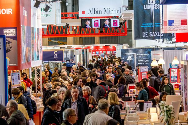 Le salon du livre 2018, à Paris.