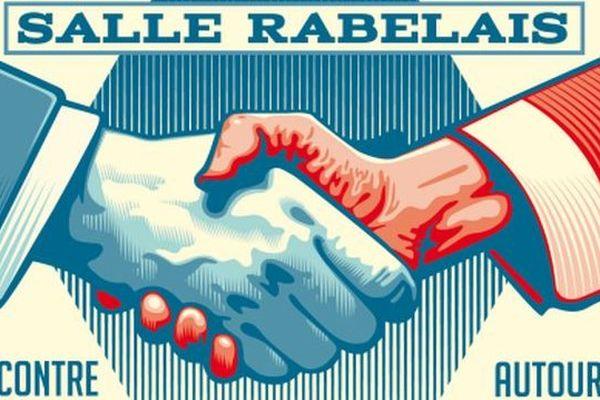 """Extrait de l'affiche de la rencontre """"tous enfants de la république"""""""