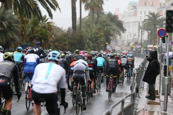 Départ de l'étape Nice La Colmiane du Paris Nice 2018.