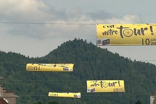 Saint-Dié-des-Vosges très fière d'accueillir le départ de la 5e étape du Tour de France @Michael Martin