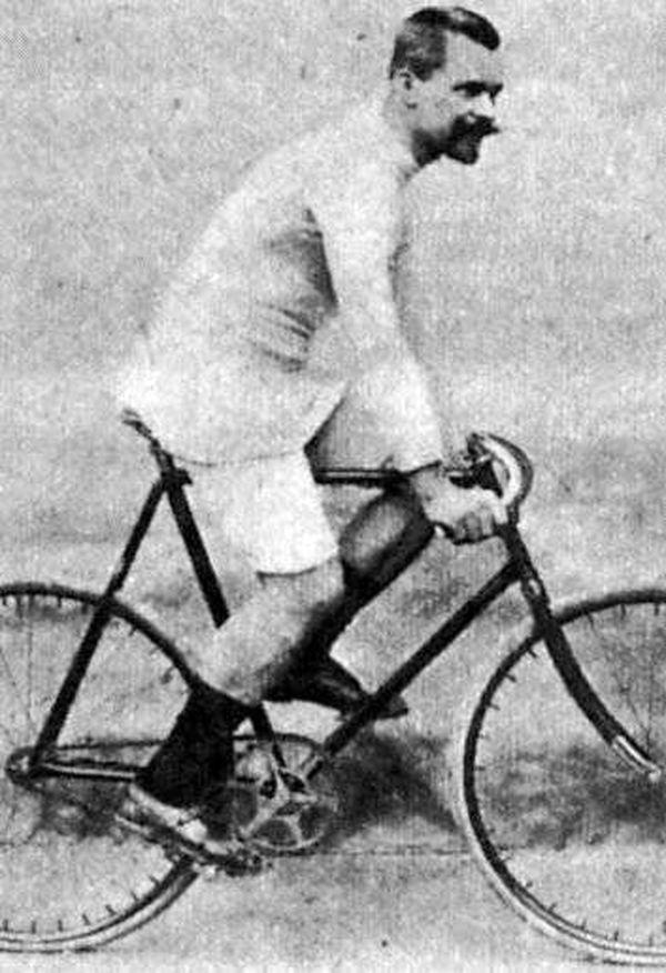 Joseph Fischer, dernier vainqueur allemand du Paris-Roubaix, en 1896.