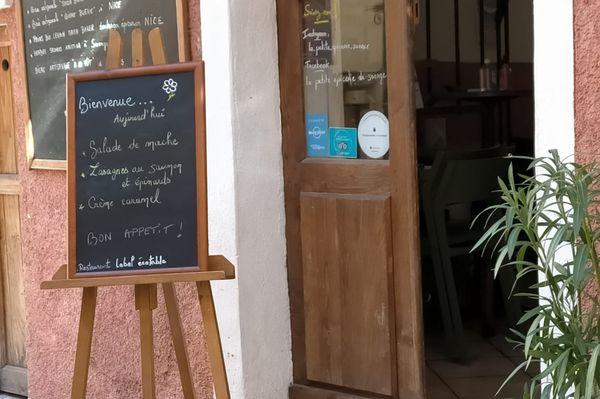 """Le menu du jour de """"La petite épicerie"""" de Saorge."""