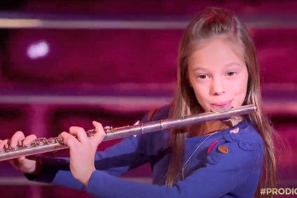 Mélodie Séguin lors de la 1/2 finale de l'émission Prodiges diffusée sur France 2