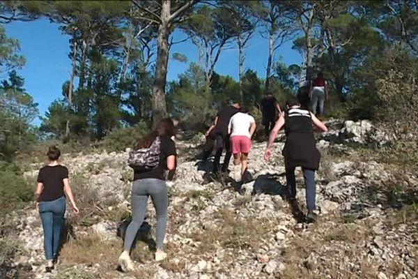 Les participants ont quadrillé le mont Faron pour tenter de retrouver le jeune homme.
