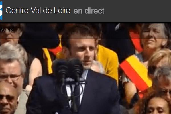 Emmanuel Macron en direct d'Orléans
