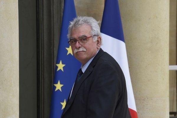 Le député communiste du Puy-de-Dôme André Chassaigne reçu à l'Elysée en 2015.