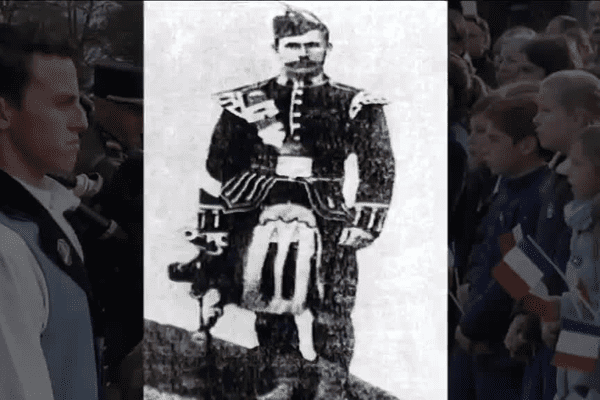 Le Bagad de Vannes reprend une marche composée par un piper écossais en l'honneur du 116è régiment de Vannes