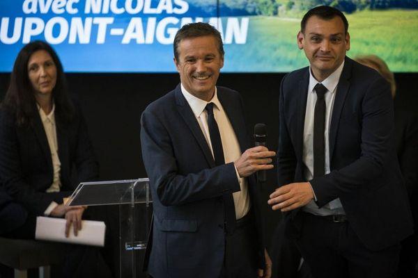 Nicolas Dupont-Aignan et Benjamin Cauchy en mars 2019.