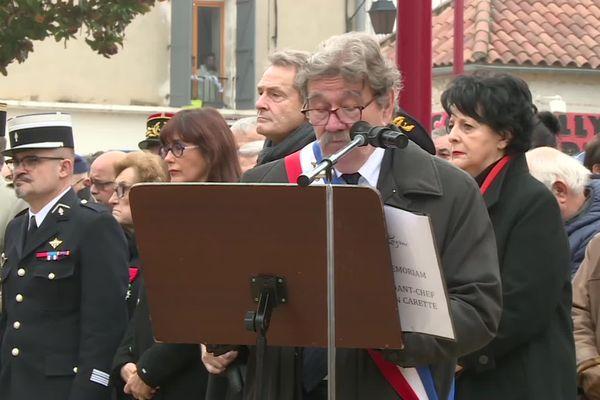 Le maire Rémi Constant a rendu hommage à Julien Carette