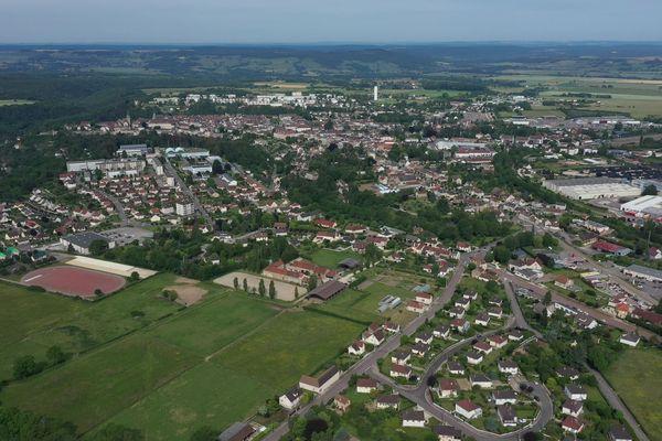 La commune d'Avallon.