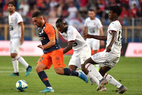 Eduardo Camavinga à droite, lors du match du Stade rennais contre Montpellier