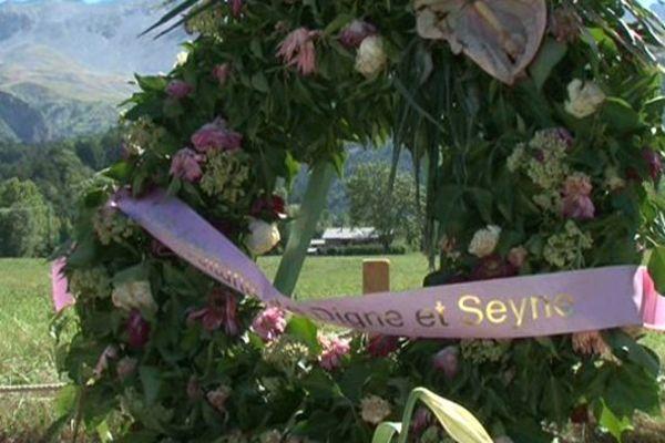 Sur le site du crash de la Germanwings.