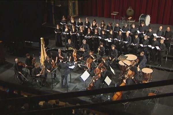 Marc Hajjar aux commandes de l'orchestre symphonique de Bâle