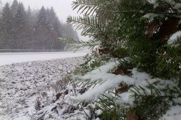 Neige sur les hauteurs de Guéret le 22 janvier 2019