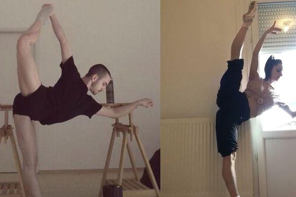 Hugo Prunet et Marine Pellerin s'entrainent depuis chez eux. L'un en Allemagne, l'autre à Toulouse. Pour les danseurs et danseuses classiques, les étirements et classes continuent, même en période de confinement. A la moindre relâche, ils risquent de perdre en technique, et en souplesse.
