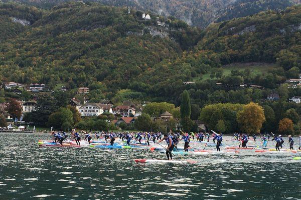 Championnat de France 2020 de paddle à Talloires, en Haute-Savoie