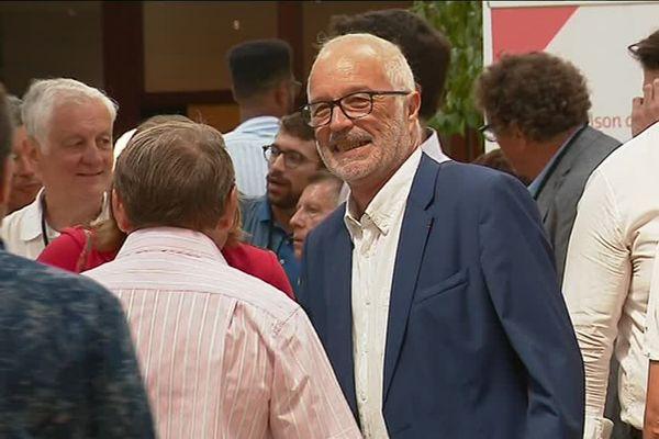Le maire de Dijon François Rebsamen, ce jeudi 23 août 2018, à La Rochelle.