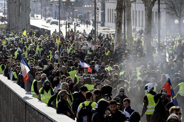Manifestation des gilets jaunes le samedi 23 février à Lyon