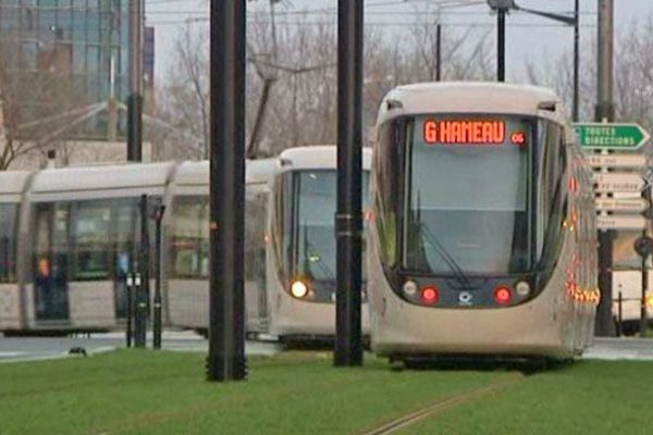 Rames du tramway du Havre