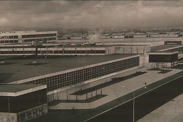 L'usine Renault Cléon en 1959.