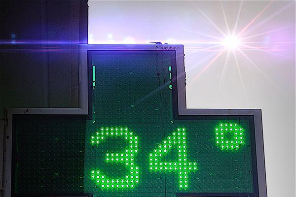 Le mercure dépasse les 34°C en ce moment dans la région.
