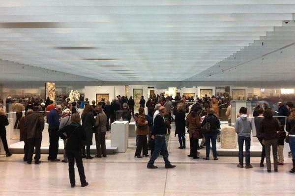 la galerie du temps du Louvre-Lens, début avril.