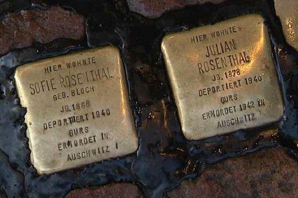 Sophie et Julian Rosenthal de Freiburg in Breisgau avaient une maroquinerie qu'ils ont été contraints de vendre. Quand les nazis sont arrivés au pouvoir, aucun juif n'avait plus le droit de posséder un commerce. Ils ont été arrêtés le 22 octobre 1940 et déportés à Auschwitz.