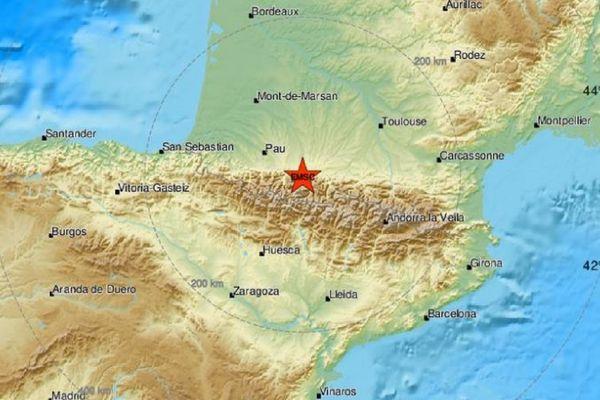 Les Pyrénées, zone sismique active