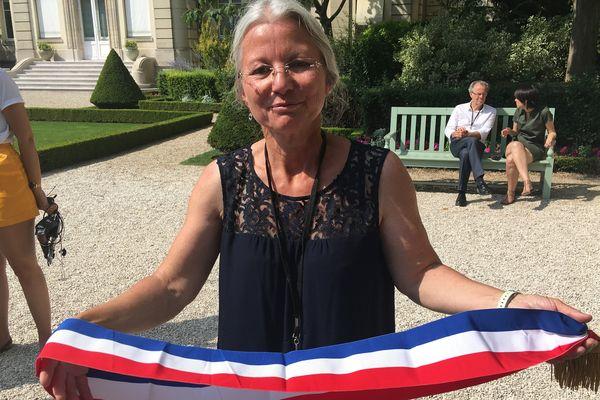 Agnès Thill, députée LREM de la deuxième circonscription de l'Oise fait sa rentrée à l'Assemblée nationale, mercredi 21 juin 2017, à Paris.