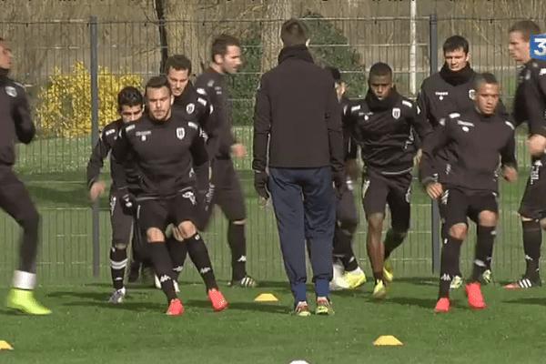 Angers SCO à l'entraînement.