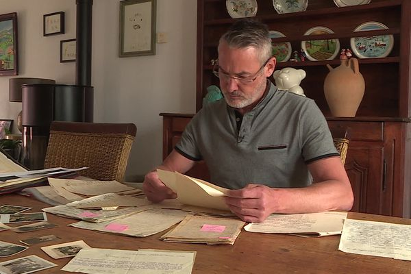 Thierry Floret a retrouvé des témoignages qui attestent que son arrière-grand-père aurait participé à des actes de résistance.